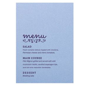 Budding Flourish Menu