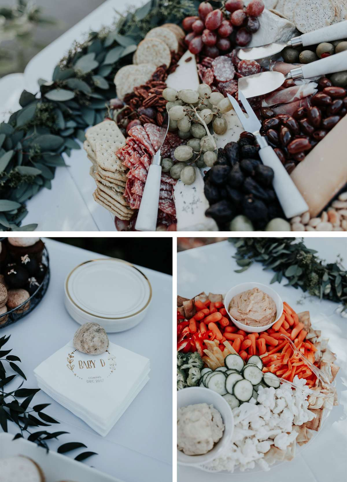boho themed backyard baby shower food