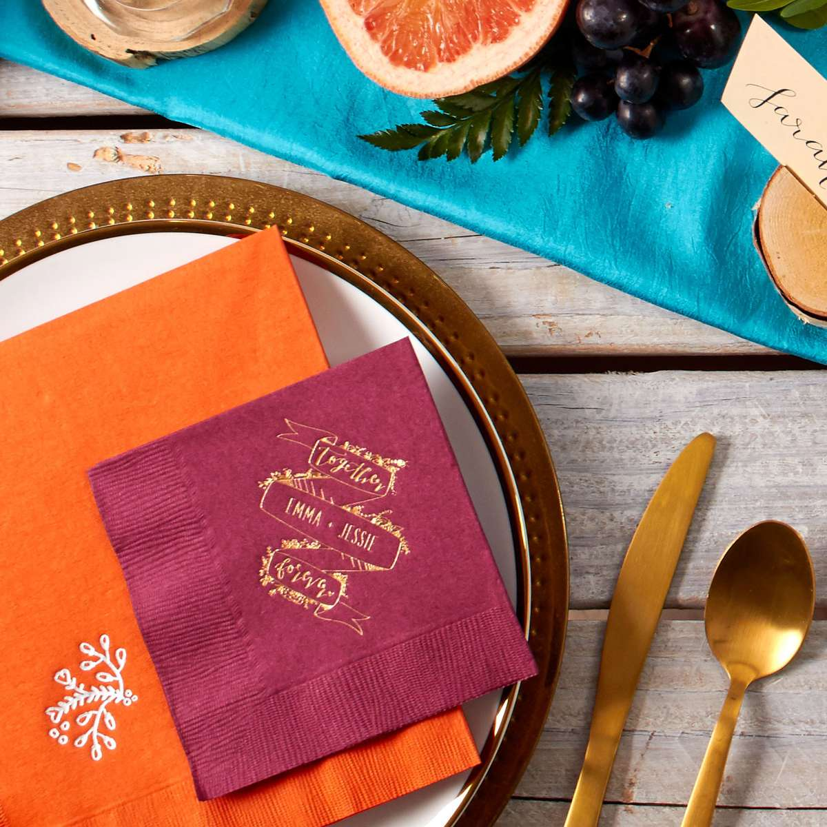 how to have a bright fall wedding palette