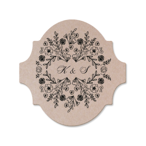 Our custom Silver with Black back Hexagon Coaster with Matte Navy Foil has a Rose Frame graphic and is good for use in Frames, Floral, Outdoors themed parties and couldn't be more perfect. It's time to show off your impeccable taste.
