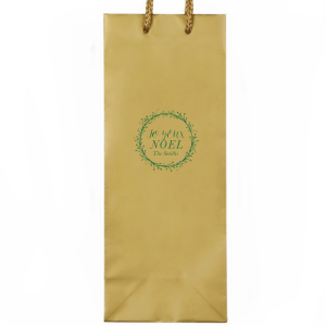 Custom White Party Bag with Satin Leaf Foil Color has a Twig Wreath graphic and is good for use in Frames themed parties and can be personalized to match your party's exact theme and tempo.