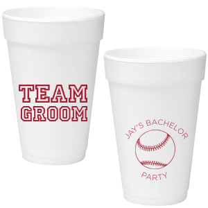 Team Groom Foam Cup
