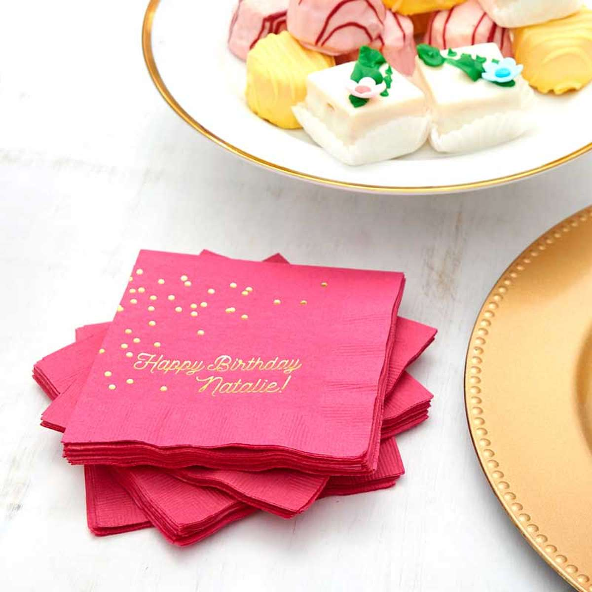 Birthday Napkins Matches Cups And Favors