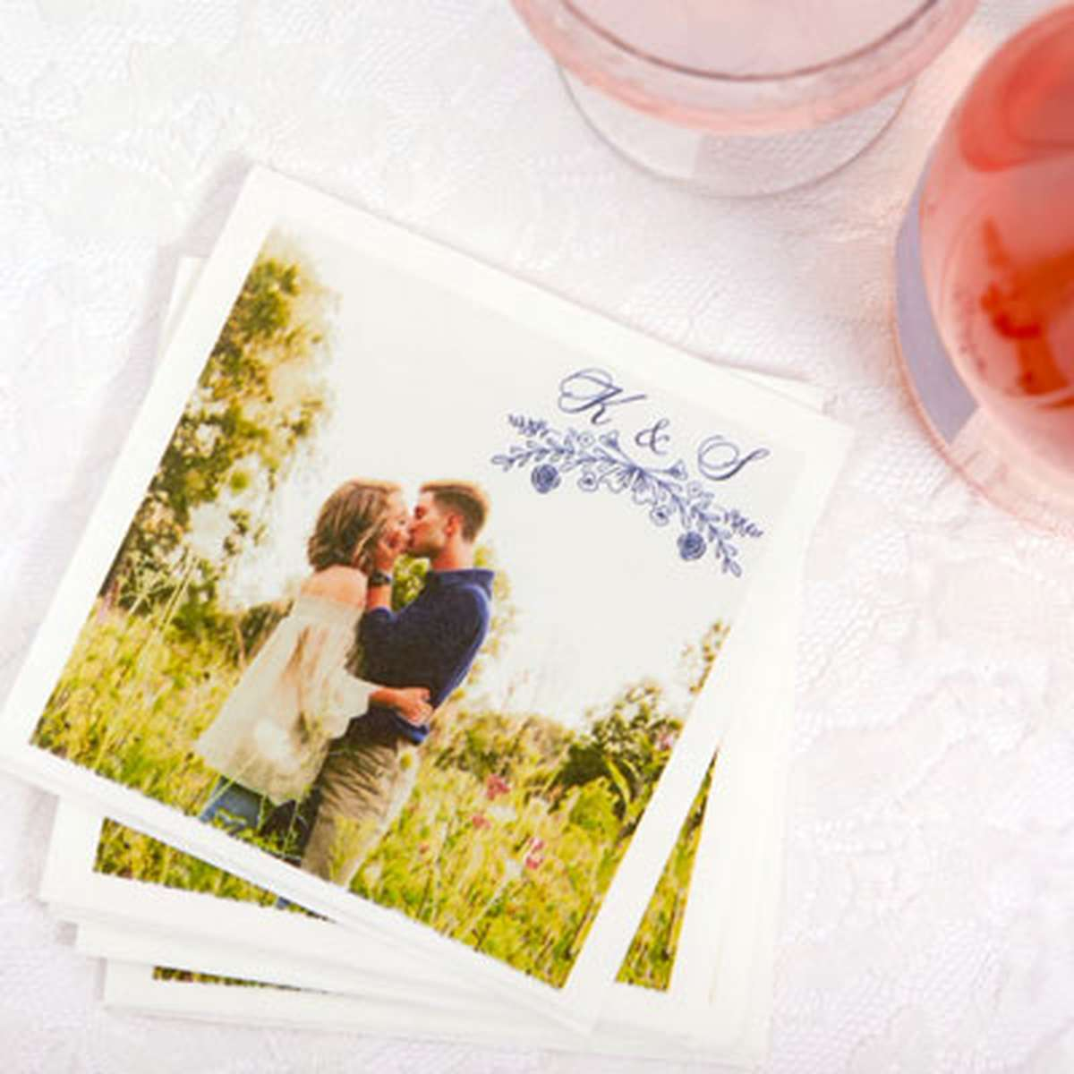 Full Color Photo personalized cocktail napkins