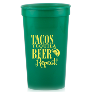 Tequila Beer Repeat Stadium Cup