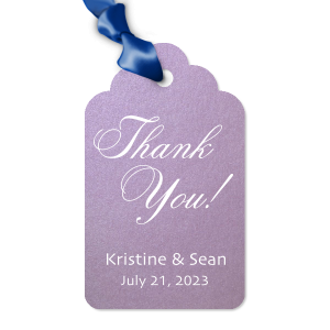 ForYourParty's elegant Stardream Lavender Wine Gift Tag with Matte White Foil will make your guests swoon. Personalize your party's theme today.