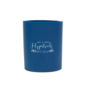Personalized Royal Round Can Cooler with Matte White Screen Print has a HandWreathRSVP graphic and is good for use in Lovely Press themed parties and will impress guests like no other. Make this party unforgettable.