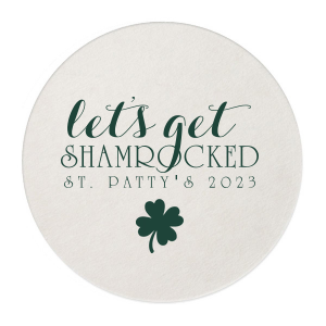 Our personalized Eggshell Square Coaster with Matte Spruce Foil has a Four Leaf Clover graphic and is good for use in Holiday, St. Patricks Day themed parties and will make your guests swoon. Personalize your party's theme today.