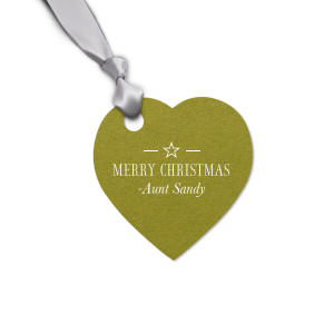 The ever-popular Poptone Dark Olive Oval Gift Tag with Matte White Foil Color will look fabulous with your unique touch. Your guests will agree!