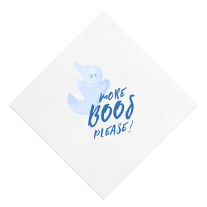 Our beautiful custom White Borderless Photo/Full Color Cocktail Napkin with Matte Royal Blue Ink Digital Print Colors can be personalized to match your party's exact theme and tempo.