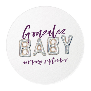 The ever-popular White Photo/Full Color Round Coaster with Matte Eggplant Ink Digital Print Colors will give your party the personalized touch every host desires.
