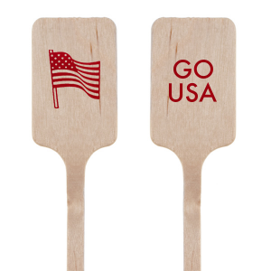 Personalized Shiny Convertible Red Round Stir Stick with Shiny Convertible Red Foil has a Flag graphic and is good for use in Holiday and Patriotic themed parties and can't be beat. Showcase your style in every detail of your party's theme!