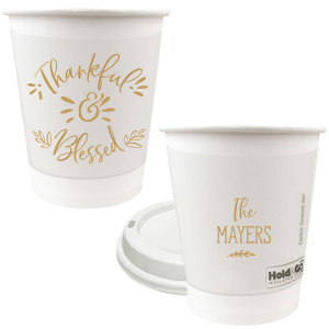 Our custom Gold Ink 12 oz Paper Coffee Cups with Lid with Gold Ink Cup Ink Colors can be customized to complement every last detail of your party.
