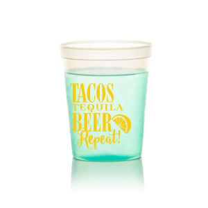 Our custom Teal 16 oz Stadium Cup with Matte Mimosa Yellow Ink Cup Ink Colors has a Lemon Wedge graphic and is good for use in Food, Drinks themed parties and will give your party the personalized touch every host desires.