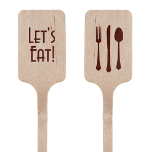 Personalized Shiny Merlot Rectangle Stir Stick with Shiny Merlot Foil has a Place Setting graphic and is good for use in Food themed parties and will look fabulous with your unique touch. Your guests will agree!