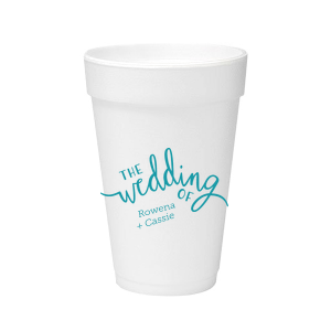 Wedding of Calligraphy Foam Cup