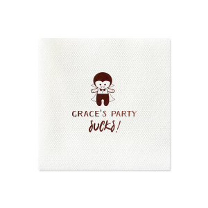 Our custom Peach Linen Like Cocktail Napkin with Shiny Merlot Foil has a Dracula graphic and is good for use in Halloween themed parties and will add that special attention to detail that cannot be overlooked.