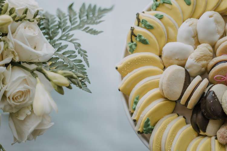 lemon and italian themed bridal shower desserts