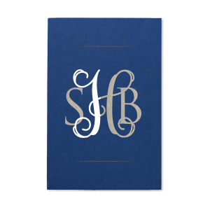 ForYourParty's chic Natural Royal/Lt. Navy Party Pocket with Shiny Sterling Silver Foil will impress guests like no other. Make this party unforgettable.