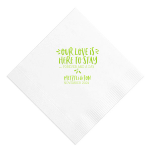 The ever-popular White Cocktail Napkin with Shiny Kiwi / Lime Foil can't be beat. Showcase your style in every detail of your party's theme!