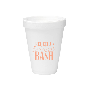 ForYourParty's elegant Matte Light Coral Ink 12 oz Styrofoam Cup with Matte Light Coral Ink Cup Ink Colors couldn't be more perfect. It's time to show off your impeccable taste.