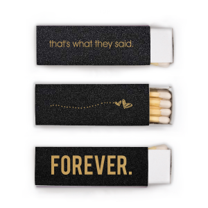Our custom Stardream Black Lipstick Matchbox with Satin 18 Kt. Gold Foil Color has a Sketchy Heart Line graphic and is good for use in Frames themed parties and will impress guests like no other. Make this party unforgettable.