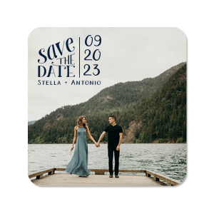 ForYourParty's personalized Photo/Full Color Coaster with Matte Navy Ink Digital Print Colors will give your party the personalized touch every host desires.