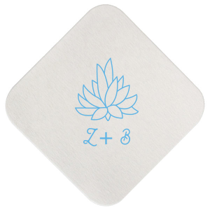 Our personalized Kraft with Blush back Deco Coaster with Matte Azure Foil has a Succulent 2 graphic and is good for use in Organic, Trendy,  Southwestern and Floral themed parties and will make your guests swoon. Personalize your party's theme today.