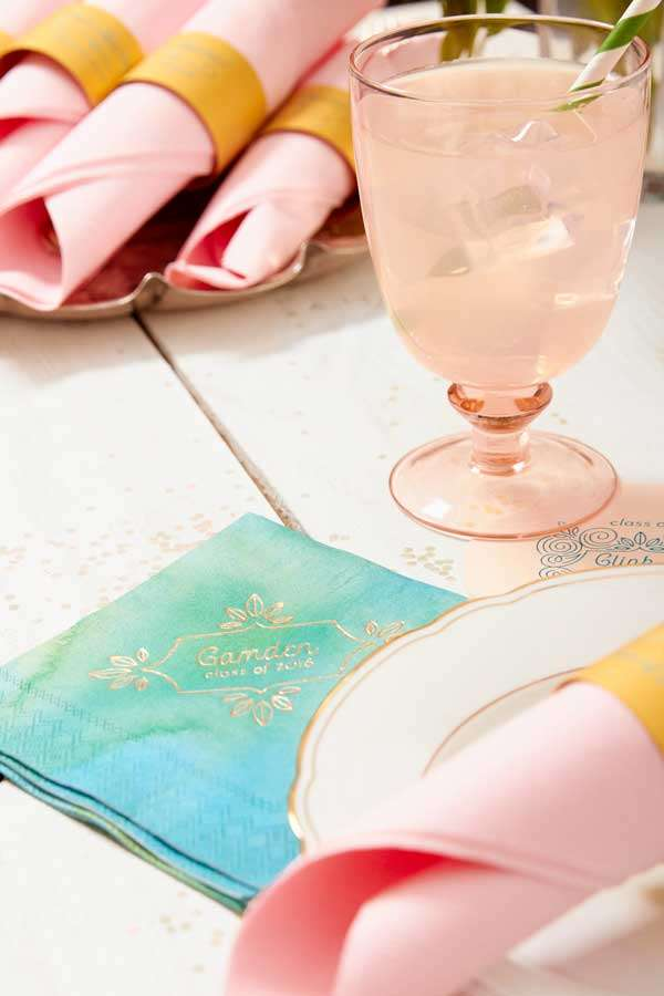 custom pattern cocktail napkins