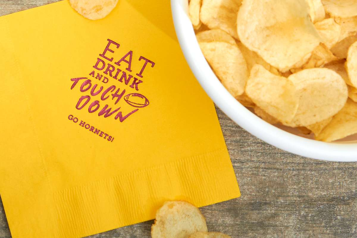 eat drink and touchdown football napkins