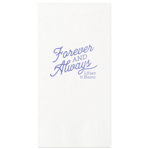 ForYourParty's chic White Cocktail Napkin with Shiny Lavender Foil can be customized to complement every last detail of your party.