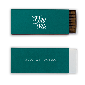 Our custom Poptone Teal/Peacock Cigar Matchbox with Matte White Foil will make your guests swoon. Personalize your party's theme today.