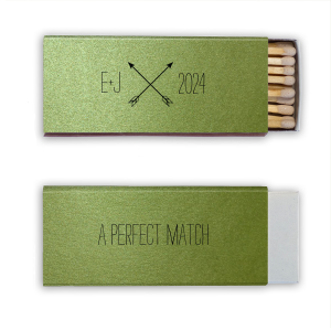 The ever-popular Stardream Lime Candle Matchbox with Matte White Foil Color has a Cross Arrows 2 graphic and is good for use in Accents, Frames themed parties and can be customized to complement every last detail of your party.