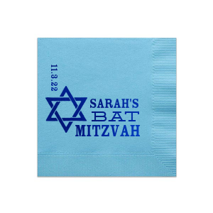 Star Of David Bat Mitzvah Napkin
