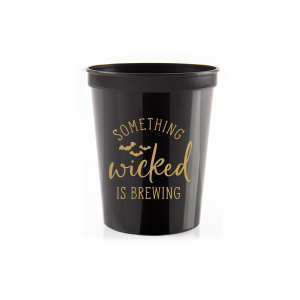 Our beautiful custom Black 16 oz Stadium Cup with Gold Ink Cup Ink Colors has a Bats graphic and is good for use in Halloween, Holiday, Animals themed parties and couldn't be more perfect. It's time to show off your impeccable taste.