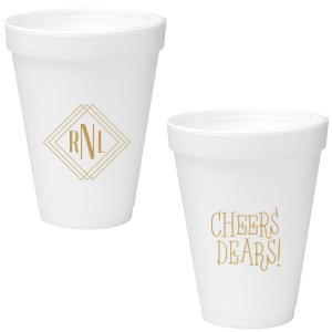 Diamond Initials Foam Cup