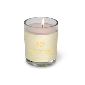 ForYourParty's elegant Linen Ivory Votive Candle with Shiny 18 Kt Gold Foil Color has a Decorative Flourish graphic and is good for use in Accents themed parties and will give your party the personalized touch every host desires.