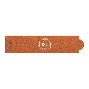 Our personalized Stardream Copper Napkin Ring with Matte White Foil has a Date Wreath graphic and is good for use in Frames, Wedding themed parties and will make your guests swoon. Personalize your party's theme today.