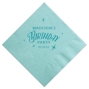 Our custom Tiffany Blue Cocktail Napkin with Matte Teal/Peacock Foil will add that special attention to detail that cannot be overlooked.