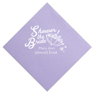 Our personalized Pastel Yellow Cocktail Napkin with Matte Ballet Pink Foil has a Umbrella with Flowers graphic and is good for use in Bridal Shower, Baby Shower themed parties and will make your guests swoon. Personalize your party's theme today.