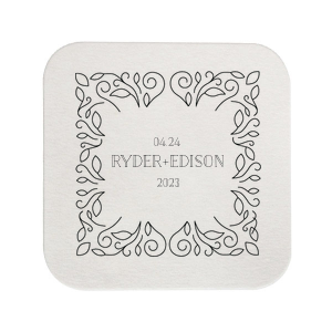 Linear Floral Coaster