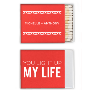 Personalized Poptone Peach Riviera Matchbox with Matte White Foil are a must-have for your next event—whatever the celebration!
