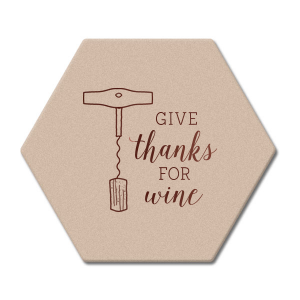 Give Thanks For Wine Coaster