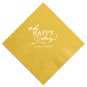 "Love Arrow Wedding - Luncheon Napkins - Personalized - Set of 100 - 6.5 x 6.5"""" by ForYourParty.com"
