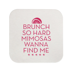 ForYourParty's personalized Kraft with Blush back Hexagon Coaster with Matte Mimosa Yellow Foil Color has a Lemon Wedge graphic and is good for use in Food, Drinks themed parties and will impress guests like no other. Make this party unforgettable.