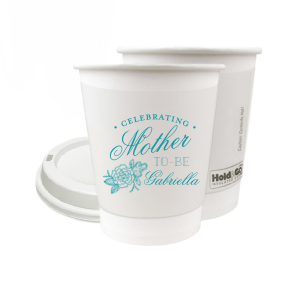 Our custom Matte Teal/Peacock Ink 8 oz Paper Coffee Cup with Lid with Matte Teal/Peacock Ink Cup Ink Colors has a Peony Accent graphic and is good for use in Floral, Accents themed parties and can't be beat. Showcase your style in every detail of your party's theme!