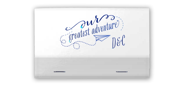 Personalized Greatest Adventure 40 Strike Matchbooks