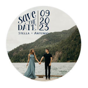 "Save The Date Photo/Full Color - Photo/Full Color Round Coasters - Personalized - 100 - 4"""" Diameter by ForYourParty.com"