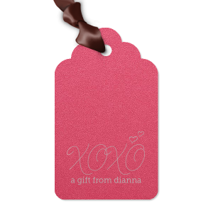 Thank guests for attending the bridal shower or engagement party with a treat tied with this custom gift tag. Stick with this Shimmer Fuchsia paper or choose a different color to match your theme.