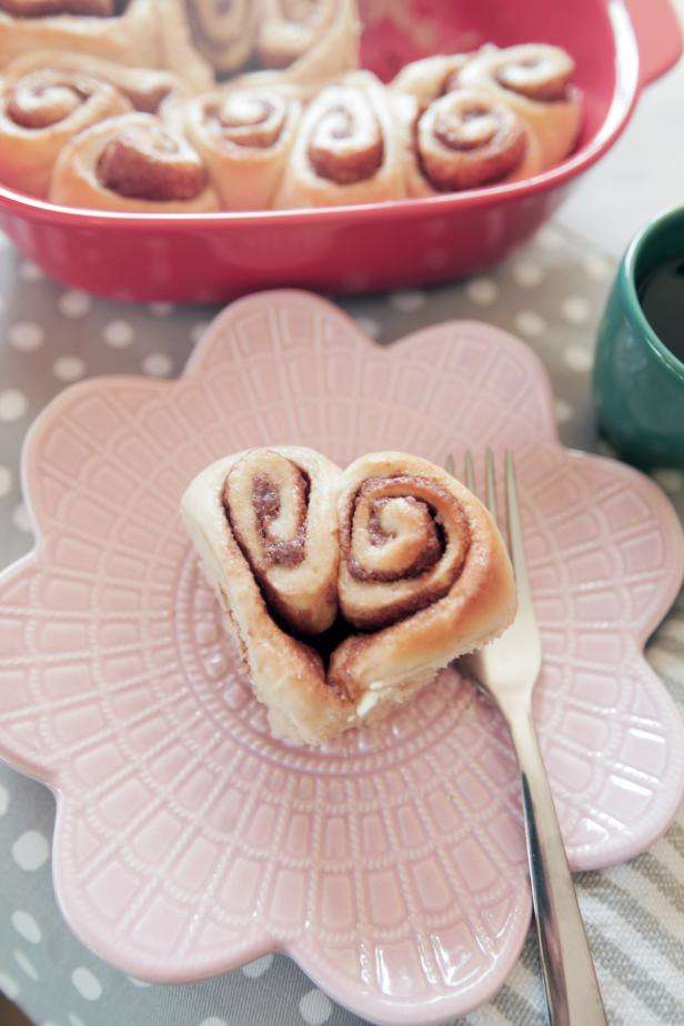 Heart Shaped Cinnamon Roll photo by Liz Gray